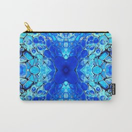 Blue liquid acrylic cells Carry-All Pouch