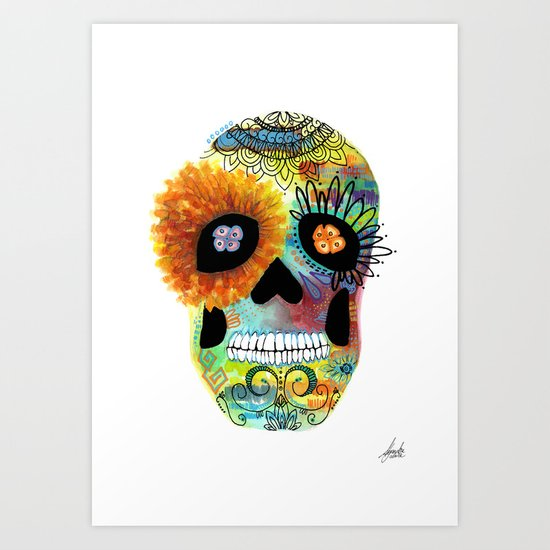 Halloween#Skull#Death day Art Print