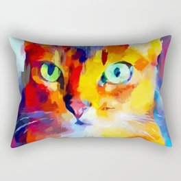 Abyssinian Cat Rectangular Pillow