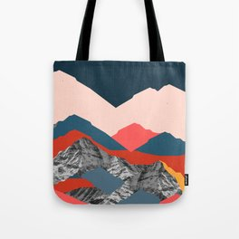 Graphic Mountains X Tote Bag