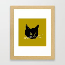 Mr. Black Cat Framed Art Print