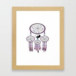 Yin-Yang dream catcher Framed Art Print