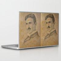 tesla Laptop & iPad Skins featuring Nikola Tesla by Jenn