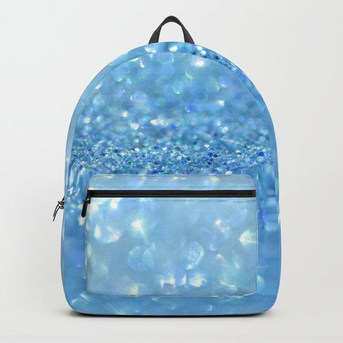 Sparkling Baby Sky Blue Glitter Effect Backpack