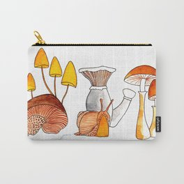 Mushrooms and Snail Carry-All Pouch