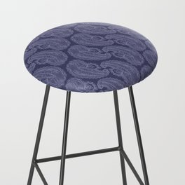 Purple Paisley Bar Stool