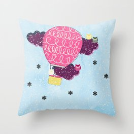 #SnowTime Throw Pillow