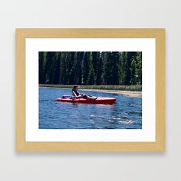 Kayak Oregon Framed Art Print