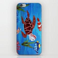 Swimming in the sea  iPhone & iPod Skin