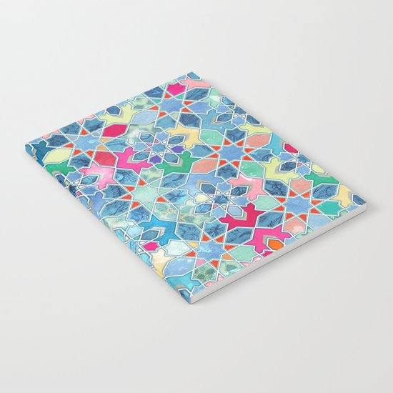 Pretty Pastel Moroccan Tile Mosaic Pattern Notebook