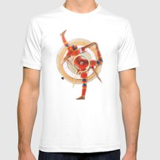 Pivot | Collage White MEDIUM Mens Fitted Tee