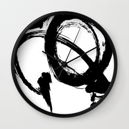 Brushstrokes No. 3 by Kathy Morton Stanion Wall Clock
