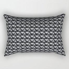 Black rubber Rectangular Pillow