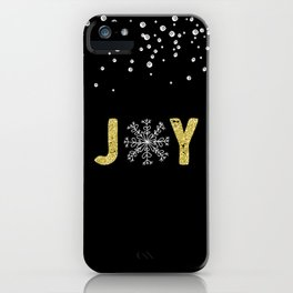 JOY w/White Snowflakes iPhone Case