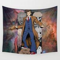 doctor who Wall Tapestries featuring Doctor Who by David G. Wagner