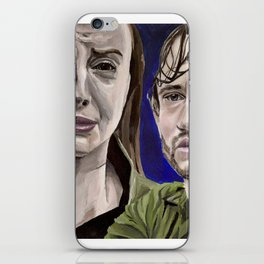 Abigail and Will, acrylic painting iPhone Skin