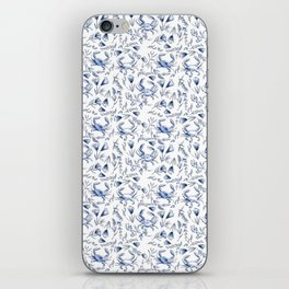 Blue Crabby iPhone Skin