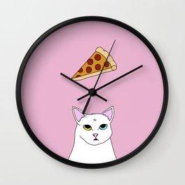 Fat D. Loves Pizza Wall Clock