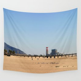 Power Station Beach Wall Tapestry