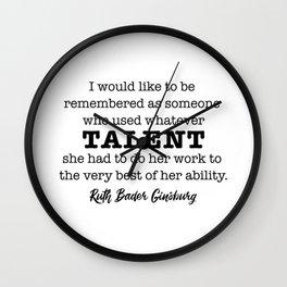 Ruth Bader Ginsburg Notorious RBG Talent Wall Clock