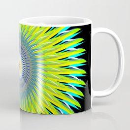 Green Machine Spiral Art Design Coffee Mug