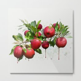 Melting Apples Metal Print