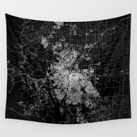 denver Wall Tapestries featuring Denver map by Line Line Lines