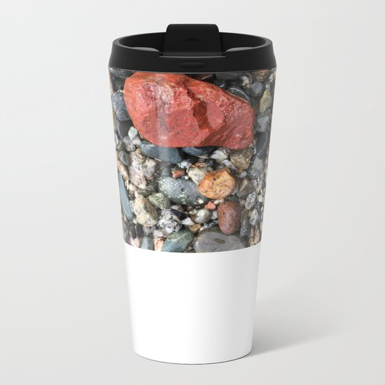 Little Rocks from the Beach Metal Travel Mug