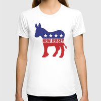 new jersey T-shirts featuring New Jersey Democrat Donkey by Democrat