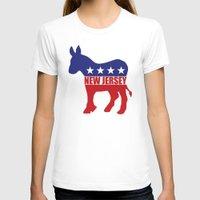 new jersey T-shirts featuring New Jersey Democrat Donkey by Democrat