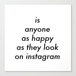 Instagram Canvas Print
