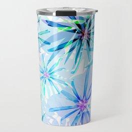 Flashy Colorful Tropical Flowers Design Travel Mug