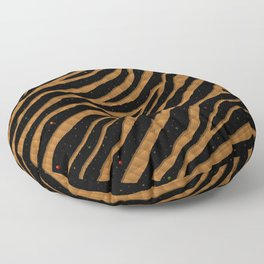 Ripped SpaceTime Stripes - Bronze Floor Pillow