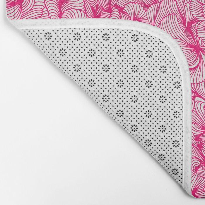 Pink Inklings Bath Mat