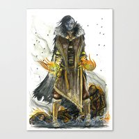 skyrim Canvas Prints featuring Dark Elf Archmage Dunmer tribute to skyrim by M.A.T Méka-Drepth