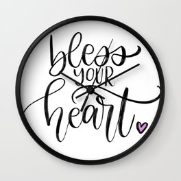 Bless Your Heart Wall Clock