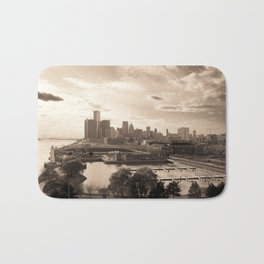 Detroit Skyline Bath Mat