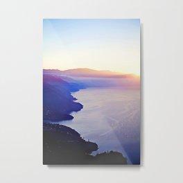 Pink sky, blue mountains Metal Print