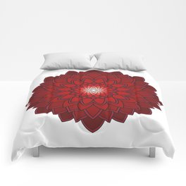Ornamental round flower decorative element Comforters