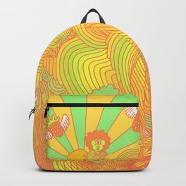 Cotton Candy Cyclops Dream: Tangerine Limeade (3 of 4) Backpack