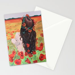 Poppies's girl Stationery Cards