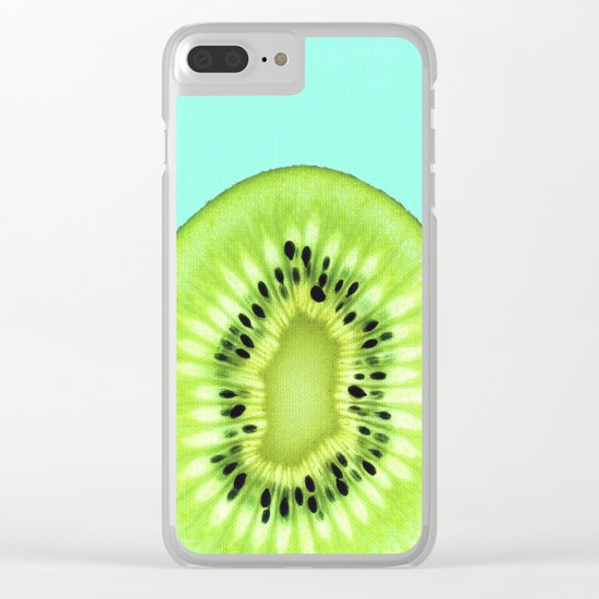 Kiwi poster Clear iPhone Case