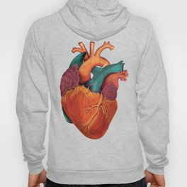 Anatomical Human Heart - Textbook Color Hoody