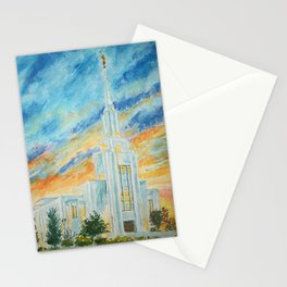 Twin Falls Idaho LDS Temple Stationery Cards