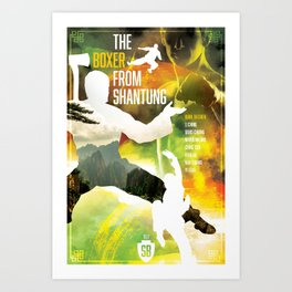 Shaw Brothers Poster Series :: Boxer From Shantung Art Print