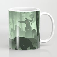 planet of the apes Mugs featuring Apes Together Strong by Ape Meets Girl