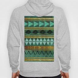 aztec Gold-emerald pattern Hoody