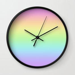 Pastel Rainbow Gradient - Pretty! Wall Clock