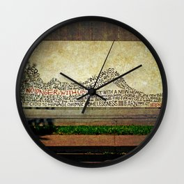 She's no longer with us Wall Clock