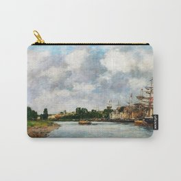 Eugene Louis Boudin - View Of The Port Of Saint, Valery-sur-somme - Digital Remastered Edition Carry-All Pouch